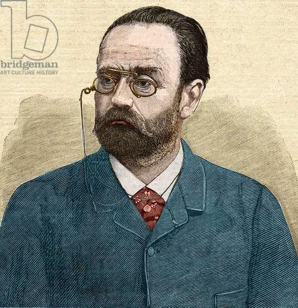 Portrait of Emile Zola (1840-1902) French writer.