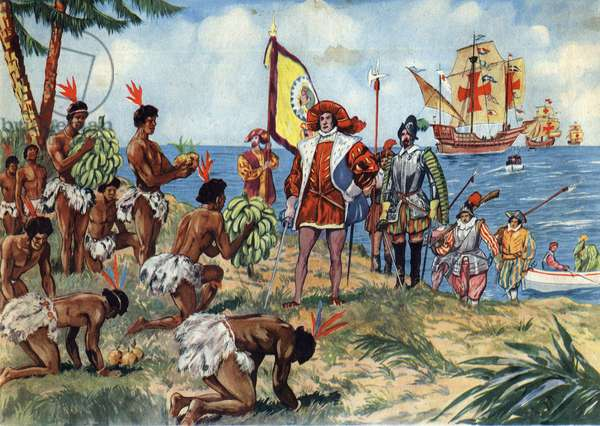 Discovered from America (Bahamas) by Christopher Columbus in 1492.