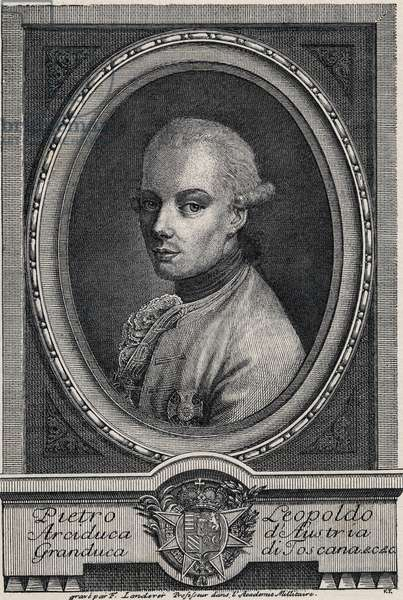 Leopold II, Holy Roman Emperor - Portrait of Peter Leopold of Habsburg-Lorraine (Pierre-Leopold Habsburg Lorraine, 1747-1792), Grand Duke of Tuscany (1765-1790) and German Roman Emperor (1790-1792)