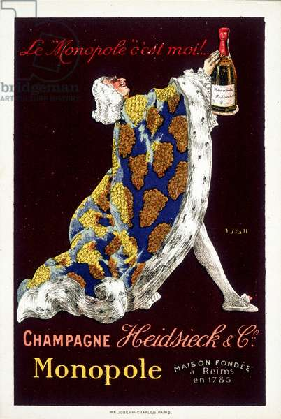 "Champagne label """" Heidsieck & Co."""", sd. early 20th century."