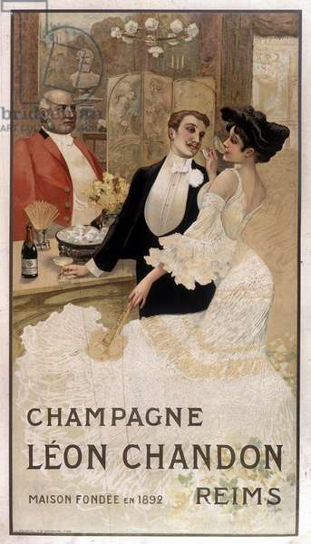 Advertising poster for Léon Chandon champagne, late 19th century