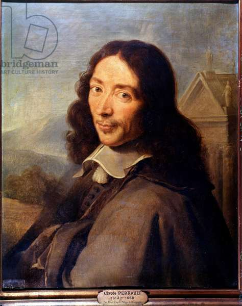 Portrait of Claude Perrault (1613-1688) French architect, doctor and physicist: Painting by Rioult after Philippe de Champaigne (1602-1674)
