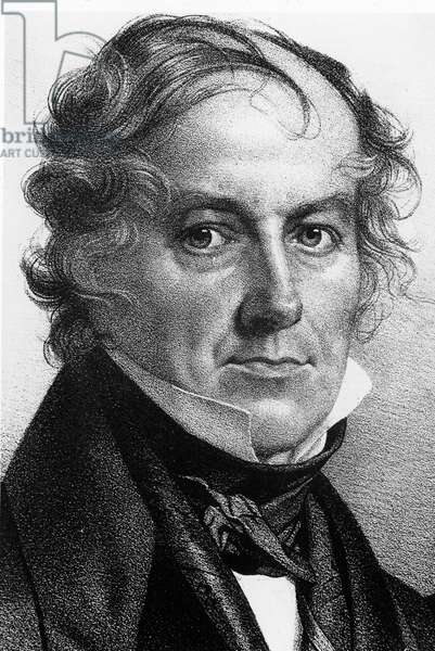 Portrait of Jean-Baptiste (Jean Baptiste) Biot (1744 - 1862), French chemist. Engraving of the 19th century