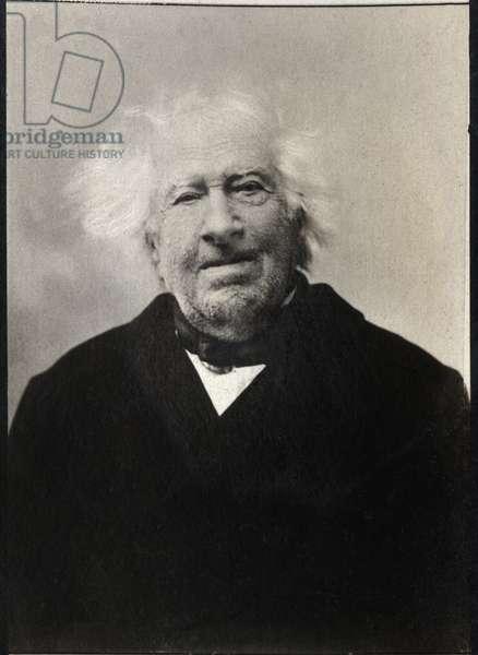 Portrait of Michel Eugene Chevreul (1786-1889), French chemist.
