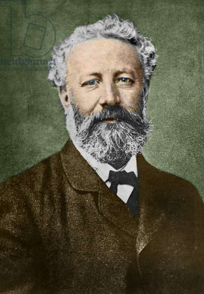 portrait of Jules Verne (1828-1905), French writer, by Nadar.