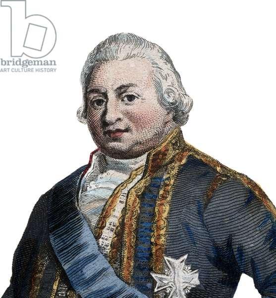 Portrait of Pierre Andre de Suffren de Saint Tropez, bailli de Suffren (1729-1788), French admiral.