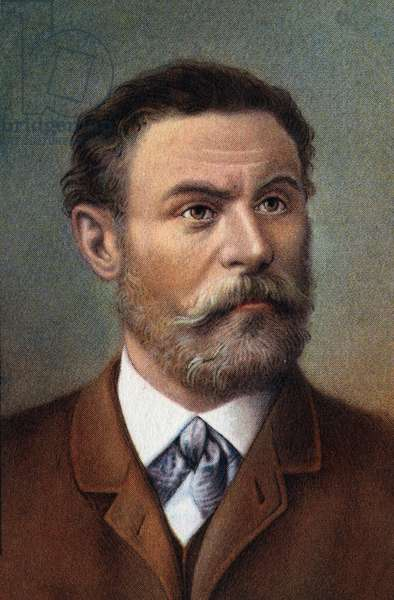 Portrait of Otto Lilienthal (1848-1896), German engineer.