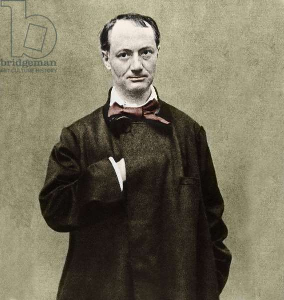 Portrait of the poet Charles Baudelaire (1821-1867).