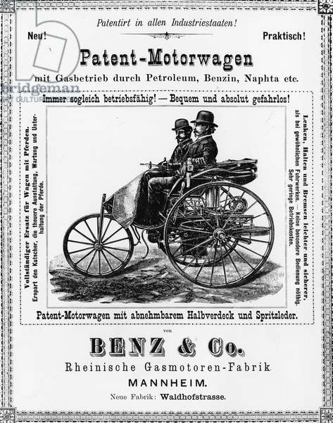 Advertising for Benz cars - End of the 19th century