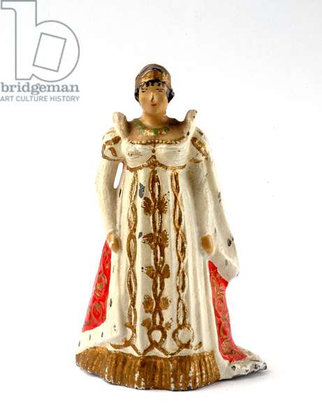 Statuette of Josephine de Beauharnais (1763-1814) in the Costume of Sacred I Empire 1804 -1814. 54 mm high lead figure. Pre-war Vertunni Ancient Manufacturing (1935)