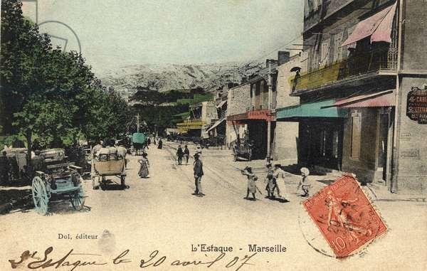 The Estaque district in Marseille in 1907.