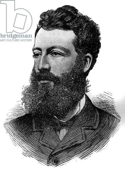 """Portrait of Prince Pierre d'Orleans (1845-1919), Duke of Penthievre. Engraving in """""""" Le Monde Illustré"""""""", 26 June 1886."""