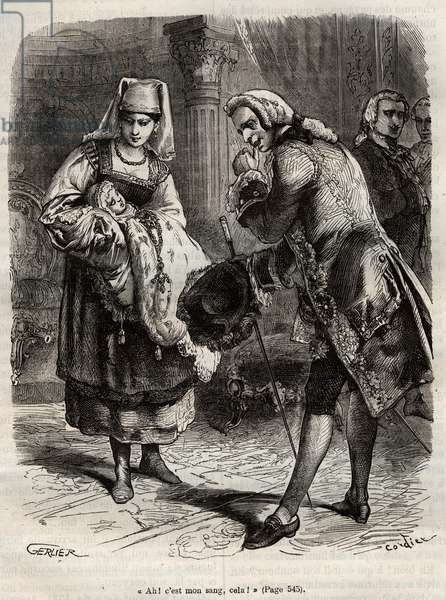 The Birth of Louise Auguste, Duchess of Augustenborg (engraving)