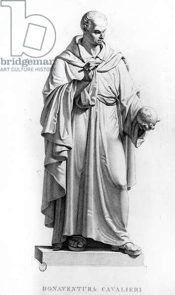 Portrait of Bonaventura Francesco Cavalieri (1598-1647), Italian Jesuite and mathematician