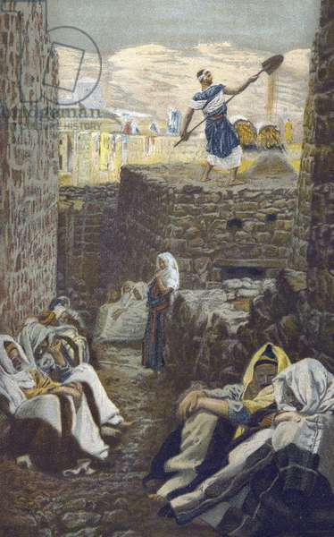 "The Winnower - from ""The Life of Our Lord Jesus Christ"" - 1899 by James Tissot - The Life of Our Lord Jesus Christ, by Jacques Joseph (Jacques Joseph) Tissot dit James Tissot (1836-1902)"