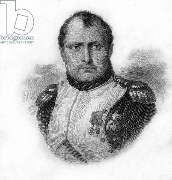 Portrait of Napoleon Bonaparte, engraving of the 19th century