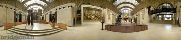 Interior of the Musée d'Orsay. Panoramic photography (360¡).