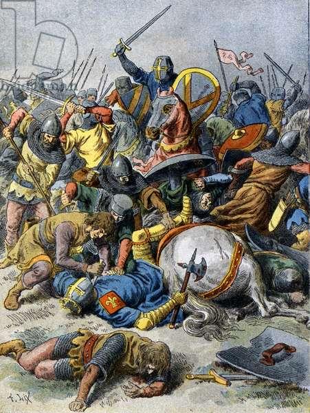 Philippe Auguste in Bouvines, 1214