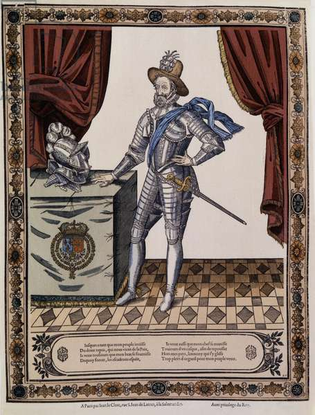 Henry IV (1553 - 1610), King of France around 1600.
