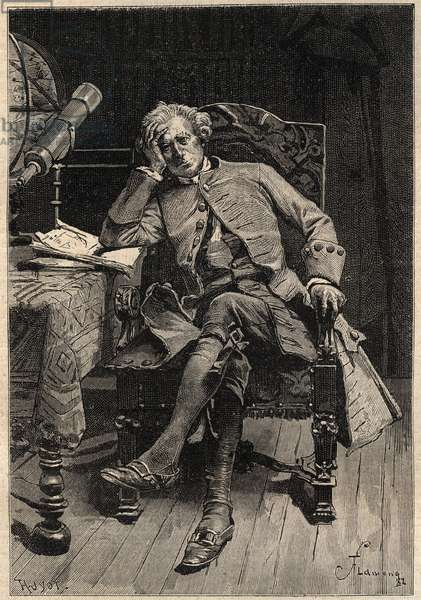 "Guy Mannering - 19th century illustration for Walter Scott's novel ""Guy Mannering or The Astrologer"" (1771-1832) engraving after Flameng"