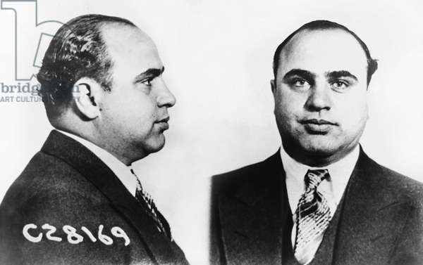 Photograph of the Judicial Identity Services of Al Capone (1899-1947) in 1931