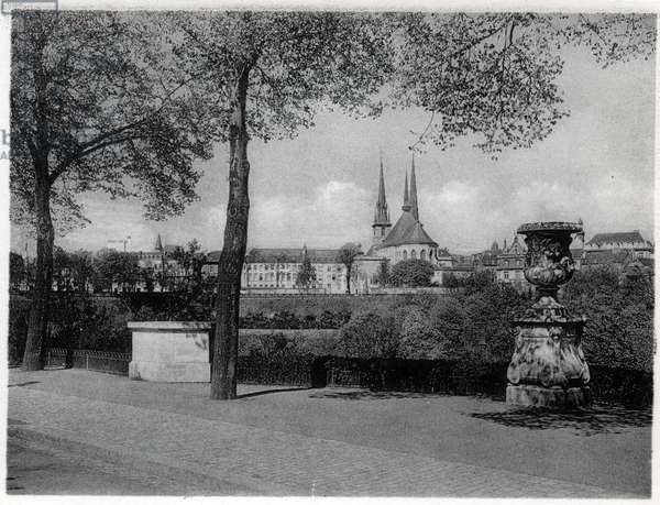 The Grand Duche of Luxembourg, the city. Photography years 1930.