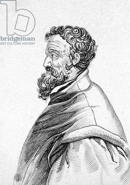Portrait of Michelangelo Buonarroti dit Michel Ange (Michelangelo or Michelangelo, 1475-1564)