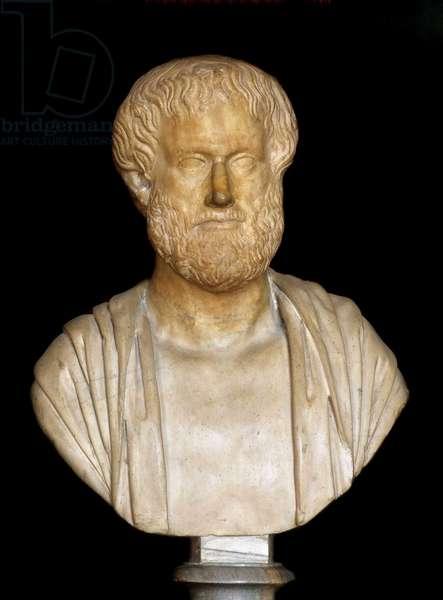 Aristotle (384 - 322 BC), Greek philosopher - bust, Mazarine library