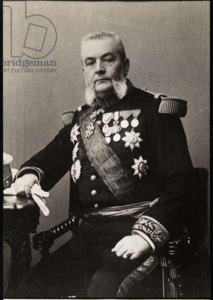 Portrait of Armand Besnard (1833-1903), French admiral.