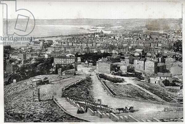 Marseille in 1894 - drawing by Henri Meyer -