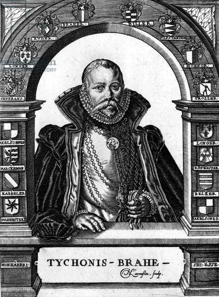 Portrait of Tycho Brahe (1546-1601) Danish astronomer and astrologer Engraving of the 18th century