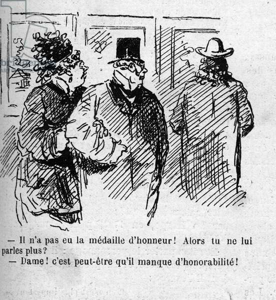 Cartoon on the recognition of the painters of the 1879 Salon, 1879 (engraving)