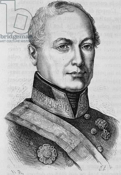 "Portrait of Count Joseph Radetzky (1766 - 1858). Engraving of the end of the 19th century in ""Histoire de France"""" by H. Martin."