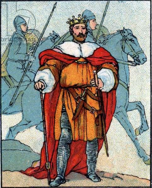 England: portrait of William I the Conquerant (1027-1087).