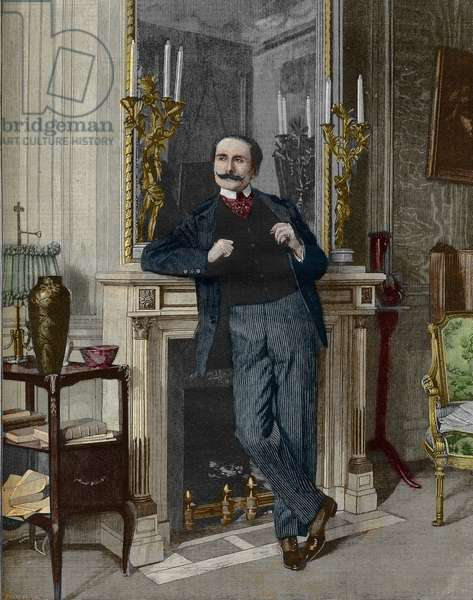 Portrait of Edmond Rostand (1868-1918), French poet and playwright.