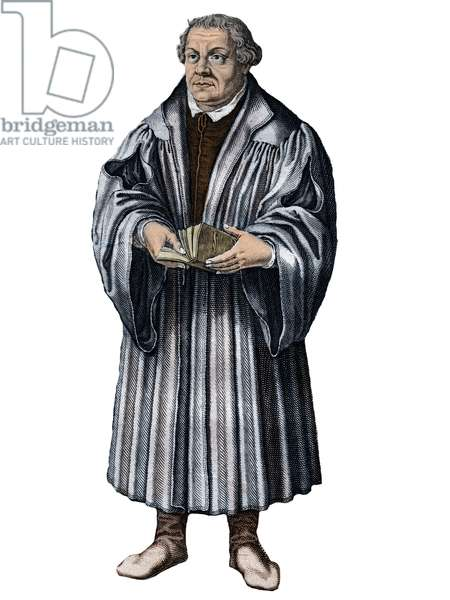 Martin Luther, (1483-1546) German reformer. engraving -