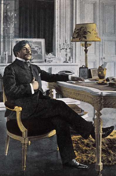 Portrait of Paul Adam (1862-1920), French writer - Paul Adam French writer - photo by Paul Francois Arnold Cardon (1858-1941) (Dornac)