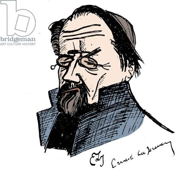 Portrait of Emile Zola (1840-1902) by Ernest La Jeunesse (1874-1917).