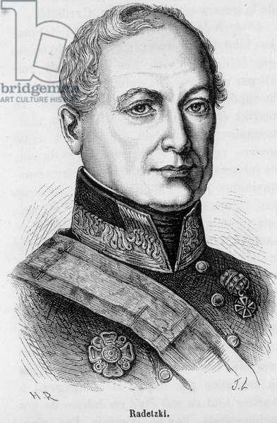 Portrait of Joseph Wenzel Radetzky von Radetz, Austrian marechal (1766-1858).