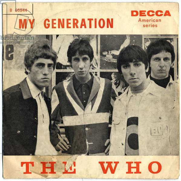 The Who (Roger Daltrey, Pete Townshend, John Entwistle and Keith Moon). 1965. Private collection.