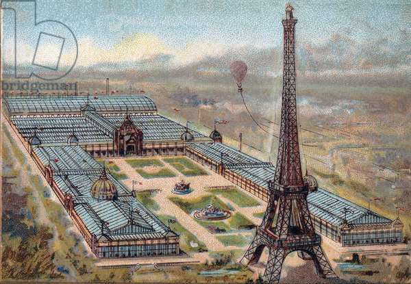 Paris. Universal Exhibition of 1889 : Eiffel Tower.