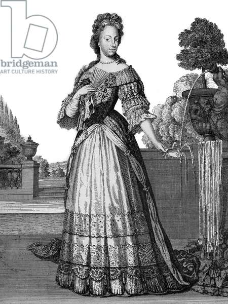portrait of Maria Josepha of Austria (Maria Josepha Benedikta Antonia Theresia Xaveria Philippine (1699-1757) Queen of Poland - (Marie-Josephe of Austria) - drawings by Caspar Luyken - Engraved & Published by Christoph Weigel (Nuremberg 1703).