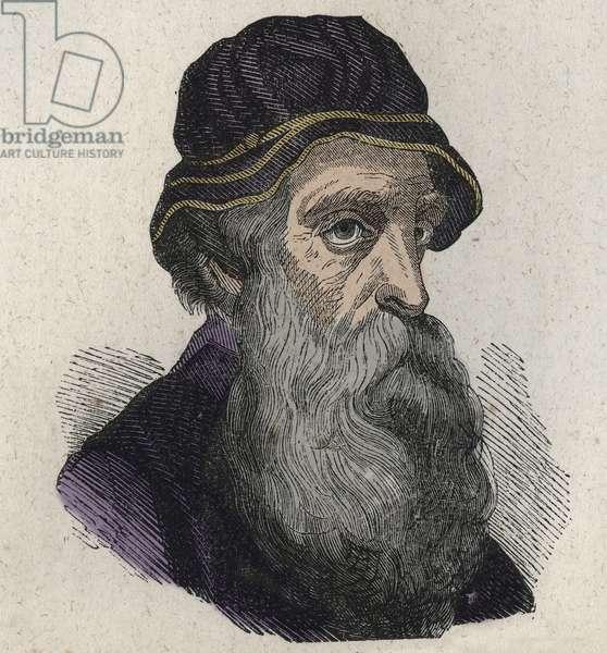 Portrait of Benvenuto Cellini, the Italian Renaissance sculptor, goldsmith, sculptor and author 1500-1571