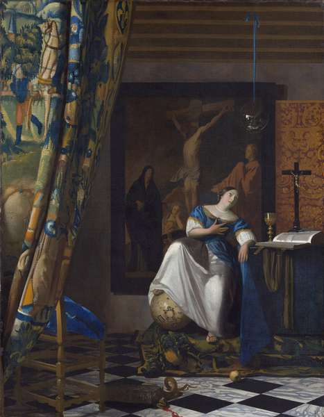 Allegory of Faith - Painting by Johannes Vermeer (Vermeer de Delft) (1632-1675), Oil on canvas, 1670-1674, 114,3x88,9 cm. Metropolitan Museum of Art, New York