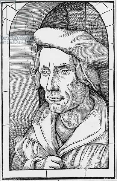 Portrait of Otto BRUNFELS (1488-1534) German botanist