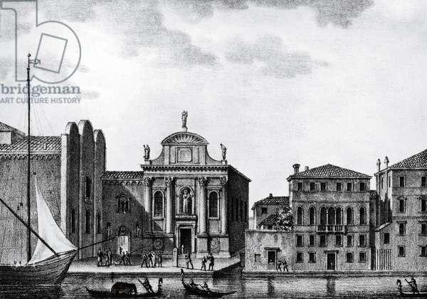 Italy, Venice, Accademia Art Galleries - Gallerie dell'Accademia de Venice in the 19th century