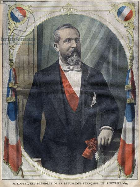 Portrait of the President of the French Republic Emile Loubet (1838-1929) - Engraving in le-pelerin of 1899