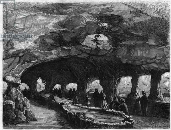 "Universal Exhibition: interior of the large sea aquarium. Engraving in ""The Illustrous Universe"", 1867. Private Collection"
