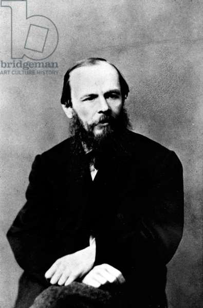 Portrait of Dostoyevsky sitting.
