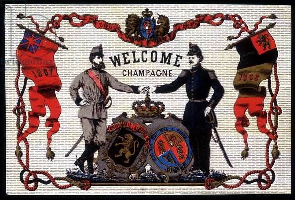 Welcome Champagne, 19th century champagne label.